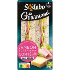 Sandwich Le Gourmand Club - Jambon Supérieur Comté AOP