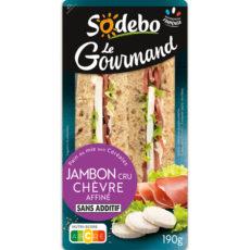 Sandwich Le Gourmand Club - Jambon cru Chèvre