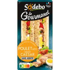 Sandwich Le Gourmand Club - Poulet rôti Sauce Caesar