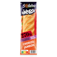 Sandwich Le Méga - Baguette - Mayo légère Chorizo Jambon