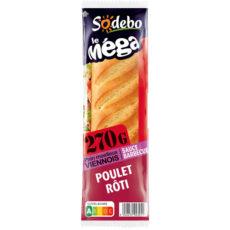 Sandwich Le Méga - Baguette -  Sauce barbecue Poulet rôti