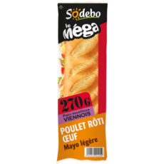 Sandwich Le Méga - Baguette  - Poulet rôti Oeuf  Mayo légère