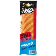 Sandwich Le Méga - Baguette - Thon  Œuf Sauce cocktail