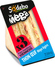 Sandwich Le Méga - Club - Thon Œuf Mayo légère  x3 / pain viennois