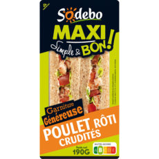 Sandwich Maxi Simple & Bon ! - Poulet rôti Crudités