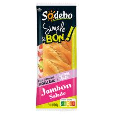Sandwich Simple & Bon ! Baguette - Beurre léger Jambon Salade