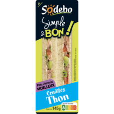 Sandwich Simple & Bon ! Club Viennois - Crudités Thon