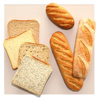 Variété de pains classiques