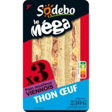 Sandwich Le Méga - Club - Thon Oeuf  x3 / pain viennois