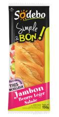 Sandwich Simple & Bon ! Baguette - Jambon Beurre Léger Salade