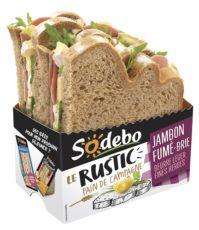 Le Rustic - Jambon fumé Brie Beurre léger et Fines herbes