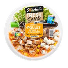 Fresh Salad - Crudités Poulet Fromage ail et fines herbes