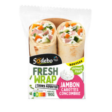 Fresh Wrap - Jambon, carotte, concombre