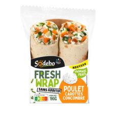 Fresh Wrap - Poulet rôti, fromage frais, carottes et concombre