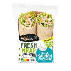 Fresh Wrap - Duo de saumon, fromage frais, fèves de soja, concombres
