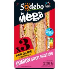 Sandwich Le Méga - Club - Jambon Sweet mustard